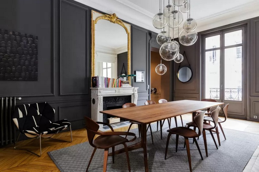 dining rooms dining rooms Elegant Dining Rooms For Your Contemporary Home Dark Dining Room Modern Ideas8