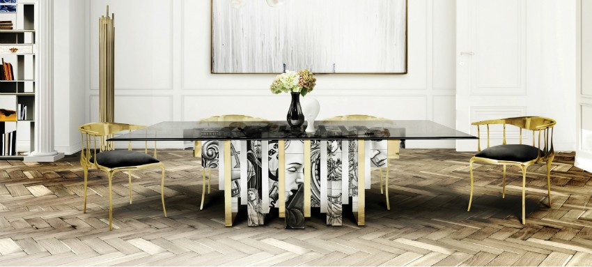 modern dining tables The Art of Handcrafting of Modern Dining Tables By Boca Do Lobo How 21 Famous Interior Designers Decorate a Dining Room12