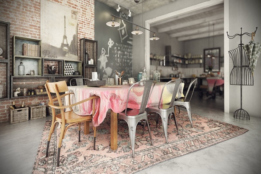 industrial style 10 Trendy Industrial Style Dining Rooms 10 10 trendy industrial style dining rooms