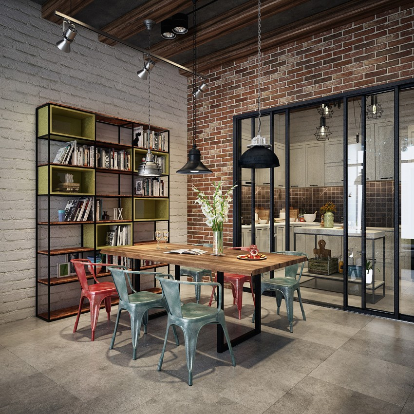 10 trendy industrial style dining rooms industrial style 10 Trendy Industrial Style Dining Rooms 2 10 trendy industrial style dining rooms