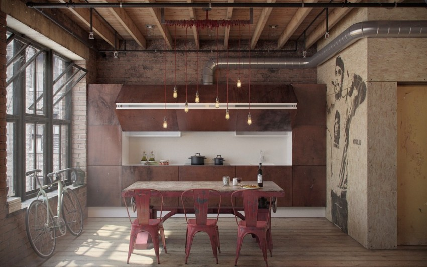 10 trendy industrial style dining rooms industrial style 10 Trendy Industrial Style Dining Rooms 5 10 trendy industrial style dining rooms