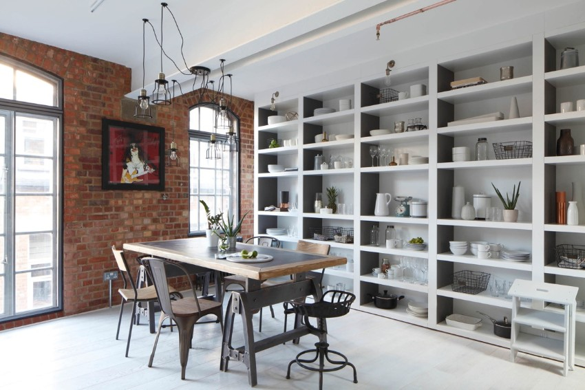 industrial style 10 Trendy Industrial Style Dining Rooms 6 10 trendy industrial style dining rooms