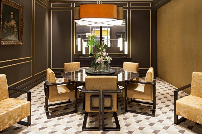 dining room tables dining room tables Furnish Your Home With Everlasting Dining Room Tables Dark Dining Room Modern Ideas 10