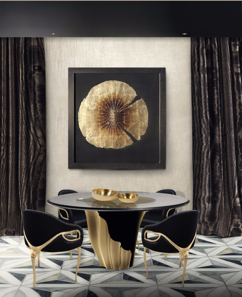 dining room tables Furnish Your Home With Everlasting Dining Room Tables Dark Dining Room Modern Ideas 3