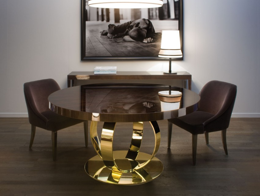 dining room tables Furnish Your Home With Everlasting Dining Room Tables Dark Dining Room Modern Ideas 5