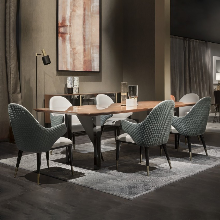 dining room tables Furnish Your Home With Everlasting Dining Room Tables Dark Dining Room Modern Ideas 7