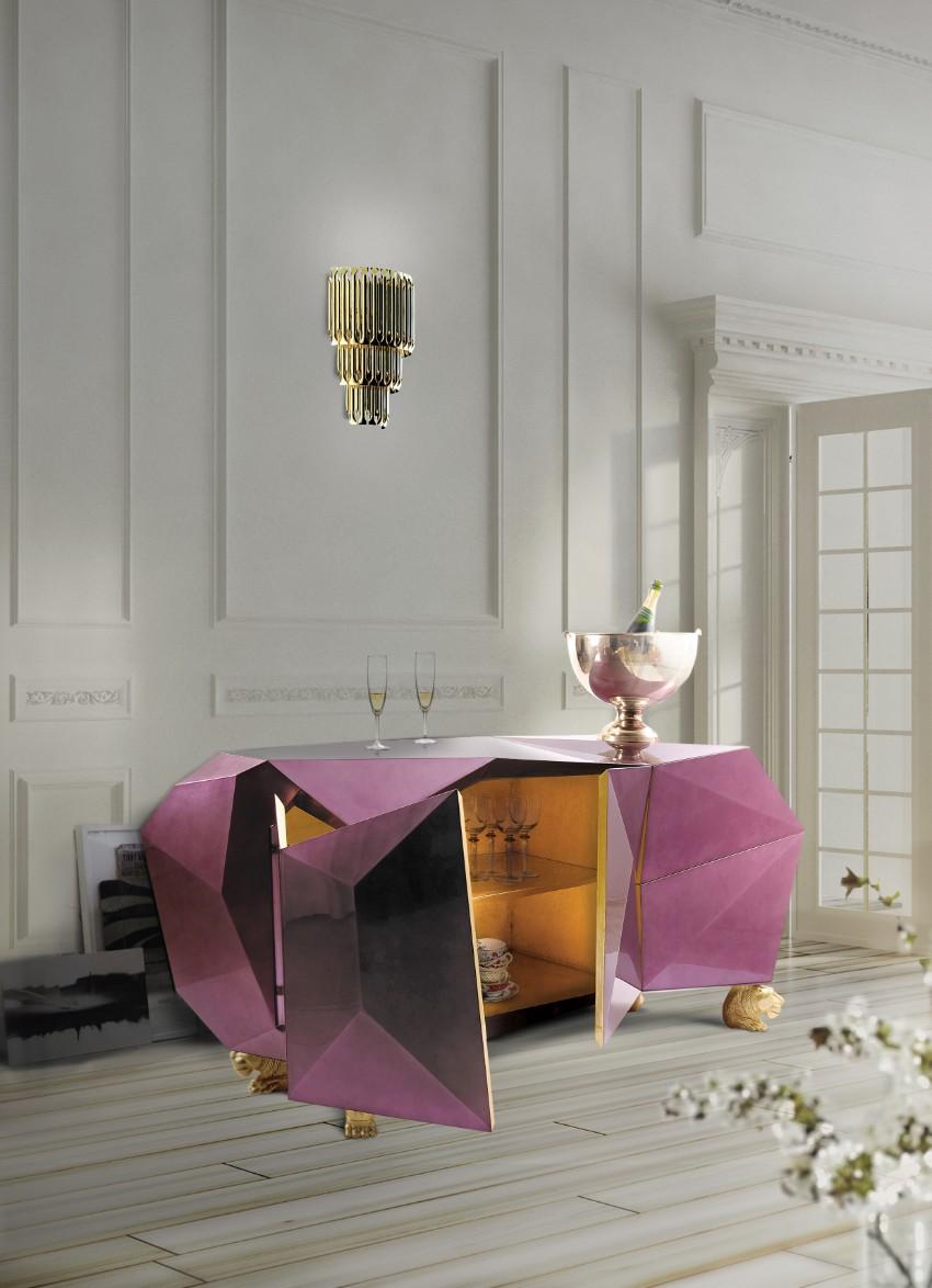 pantone Pantone's Ultra Violet: Decor Ideas For Your Dining Room Diamond by Boca do Lobo