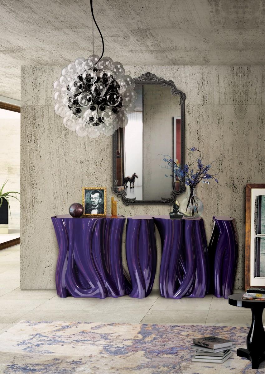 pantone Pantone's Ultra Violet: Decor Ideas For Your Dining Room Monochrome by boca do lobo