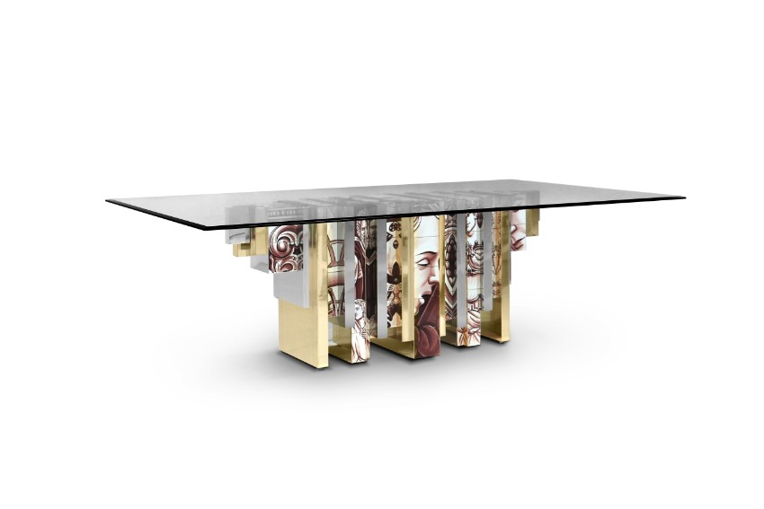 glass dining table Translucent Glass Dining Tables That Will Catch Your Attention heritage table sepia boca do lobo