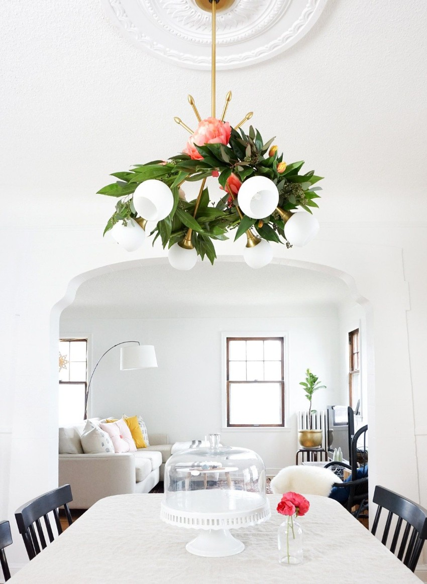 floral chandeliers Spring Fever with Trendy Floral Chandeliers in Your Dining Room 10 Spring Fever with Trendy Floral Chandeliers in Your Dining Room