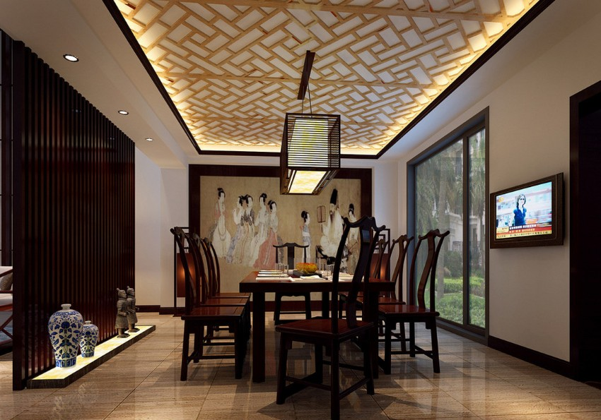 dining room Creative Ceiling Design Ideas to Spice Up Any Dining Room Creative Ceiling Design Ideas to Spice Up Any Dining Room 09