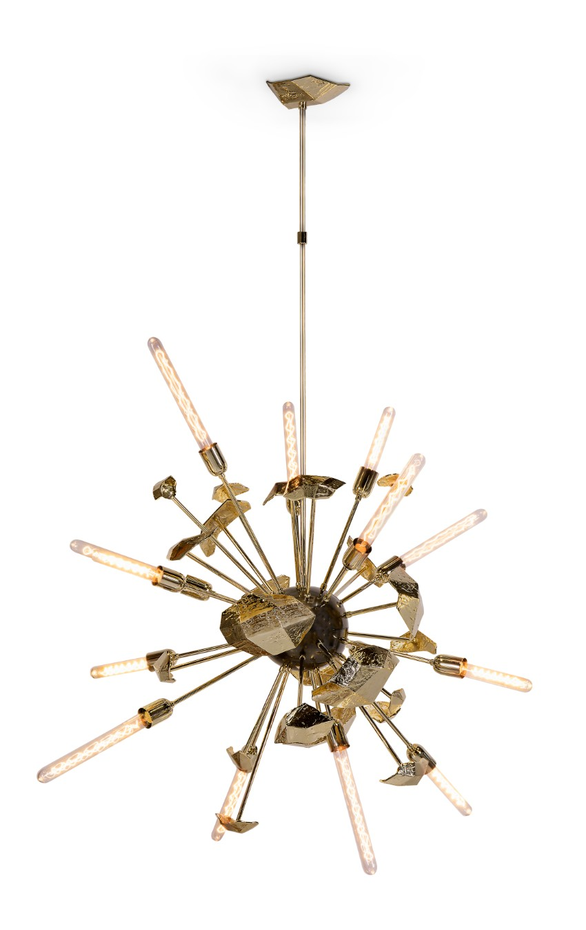 dining rooms Amazing Dining Rooms By Boca do Lobo Supernova Chandelier by Boca do Lobo