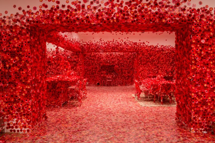 dining room The Most Unique Dining Room You Have Ever Seen By Yayoi Kusama The Most Unique Dining Room You Have Ever Seen By Yayoi Kusama