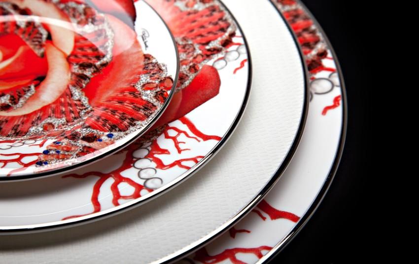 Roberto Cavalli Roberto Cavalli Discover Roberto Cavalli Rose Jewel Tableware Collection Discover Roberto Cavalli Tableware for your Luxury Dining Table 1