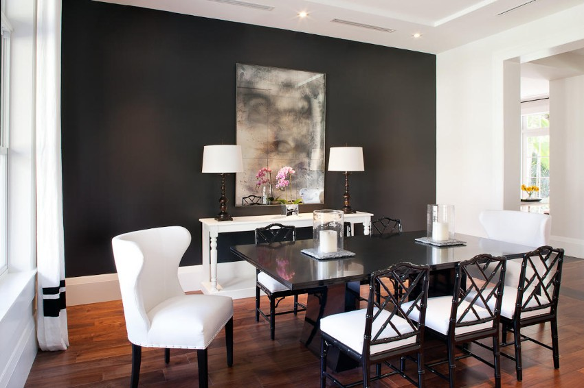 Dark Walls That Add Coziness to Any Dining Area dining area Dark Walls That Add Coziness to Any Dining Area 1 Dark Walls That Add Coziness to Any Dining Area