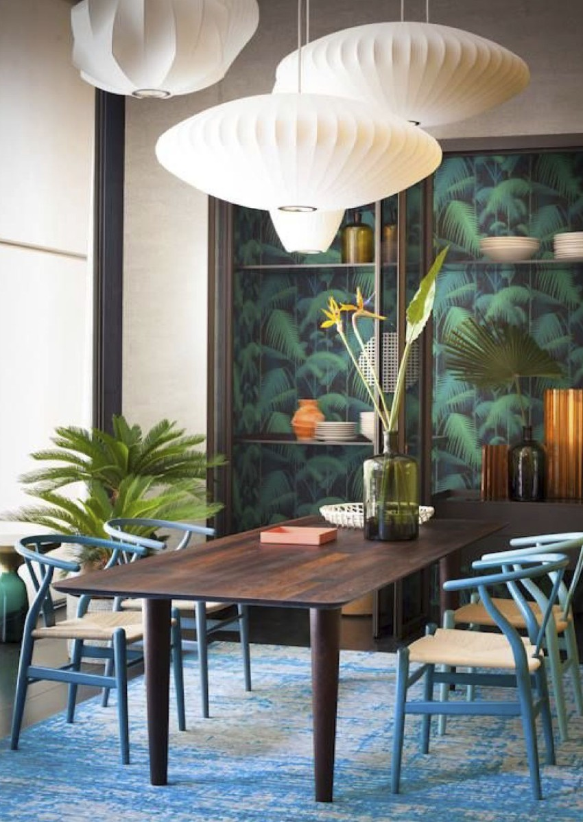 Patterned Walls to Get a Tropical Touch to Your Dining Room dining room Patterned Walls to Get a Tropical Touch to Your Dining Room 2 Patterned Walls to Get a Tropical Touch to Your Dining Room