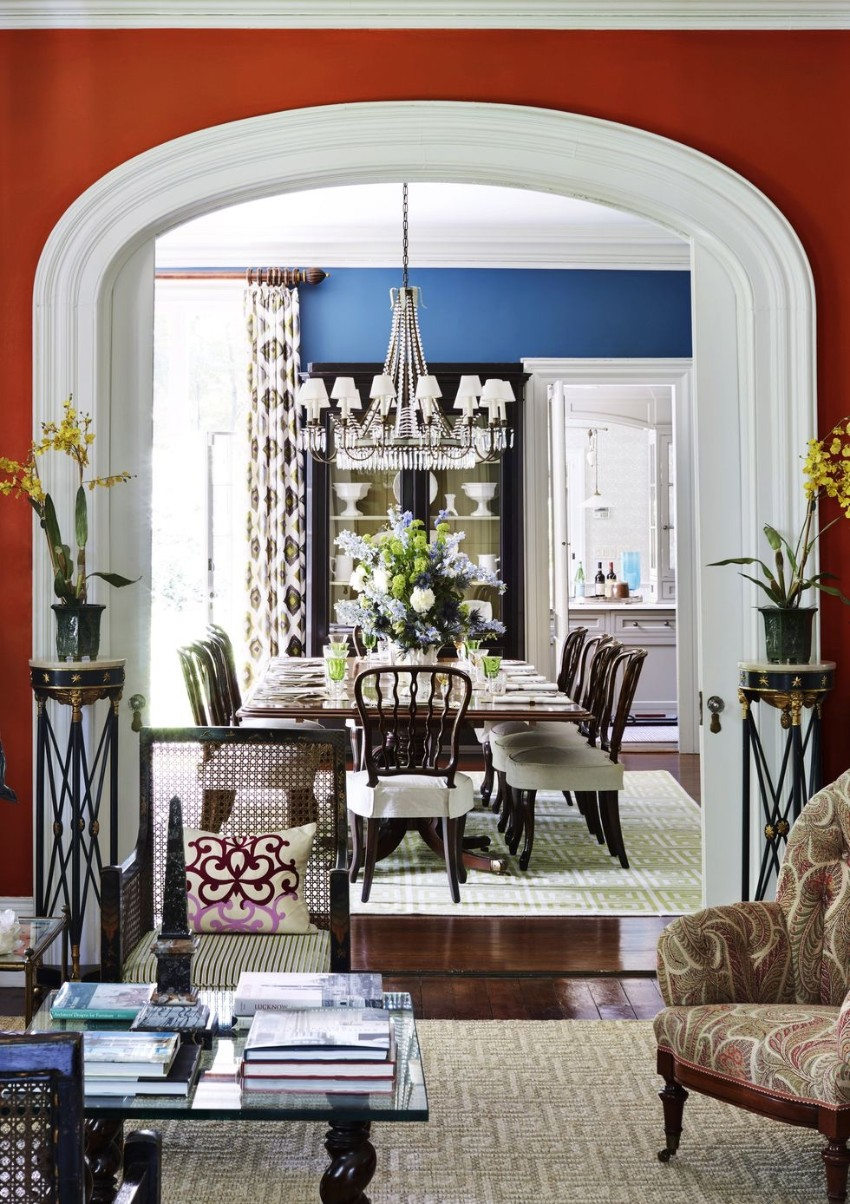 Warm Up the House With This Colorful Dining Rooms dining rooms Warm Up the House With These Colorful Dining Rooms 2 Warm Up the House With This Colorful Dining Rooms Fotor