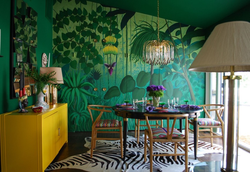 Patterned Walls to Get a Tropical Touch to Your Dining Room dining room Patterned Walls to Get a Tropical Touch to Your Dining Room 3 Patterned Walls to Get a Tropical Touch to Your Dining Room