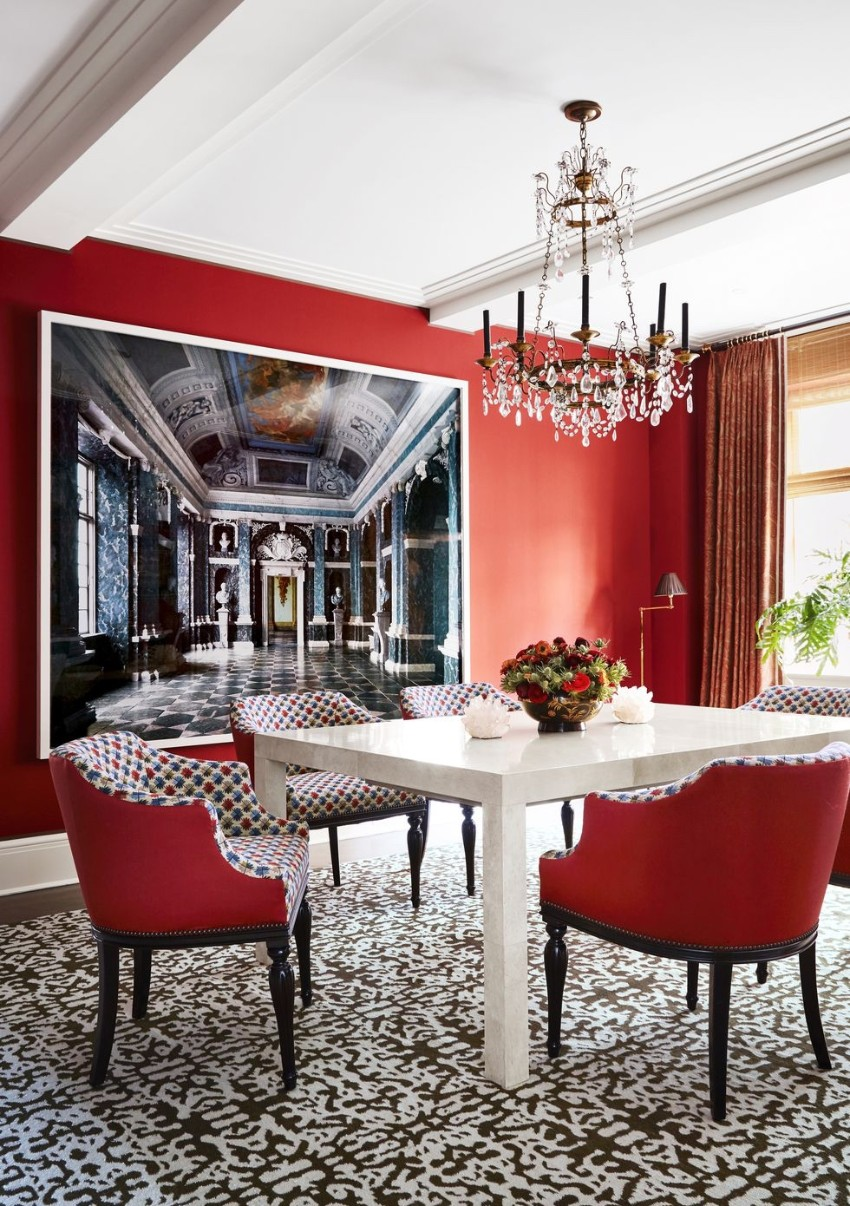 dining rooms Warm Up the House With These Colorful Dining Rooms 5 Warm Up the House With This Colorful Dining Rooms Fotor