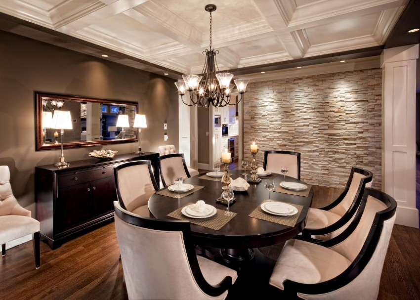 dining area Dark Walls That Add Coziness to Any Dining Area 8 Dark Walls That Add Coziness to Any Dining Area