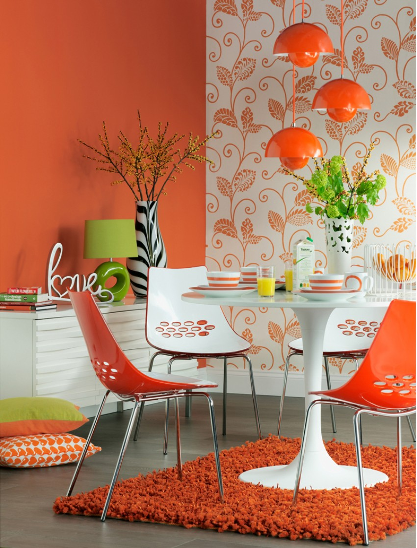 dining room Patterned Walls to Get a Tropical Touch to Your Dining Room 8 Patterned Walls to Get a Tropical Touch to Your Dining Room