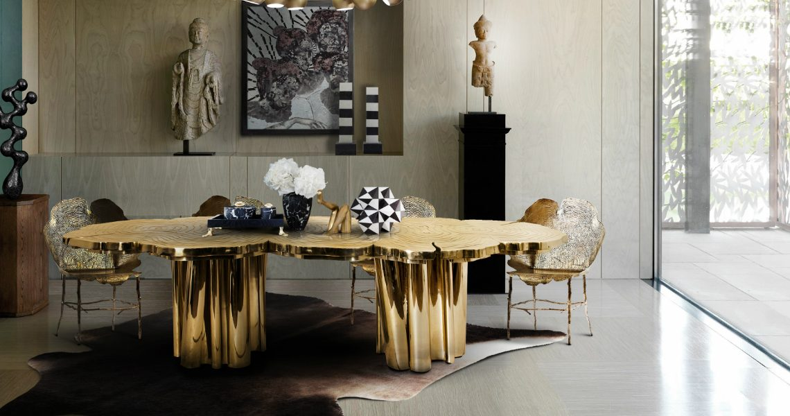 Gold Dining Tables To Bring Glory to Your Dining Room