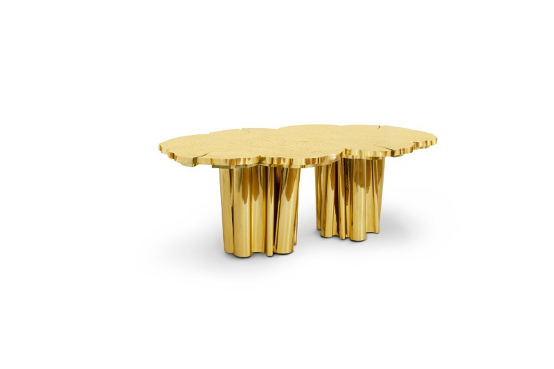 gold dining tables Gold Dining Tables To Bring Glory to Your Dining Room fortuna 01 1