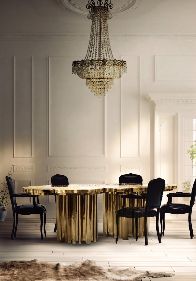 gold dining tables Gold Dining Tables To Bring Glory to Your Dining Room fortuna