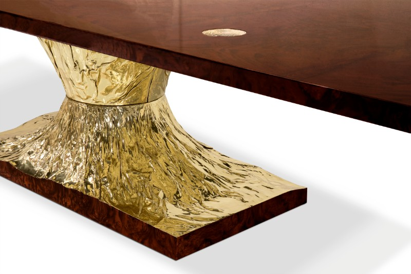 gold dining tables Gold Dining Tables To Bring Glory to Your Dining Room metamorphosis dining table 04 hr 1