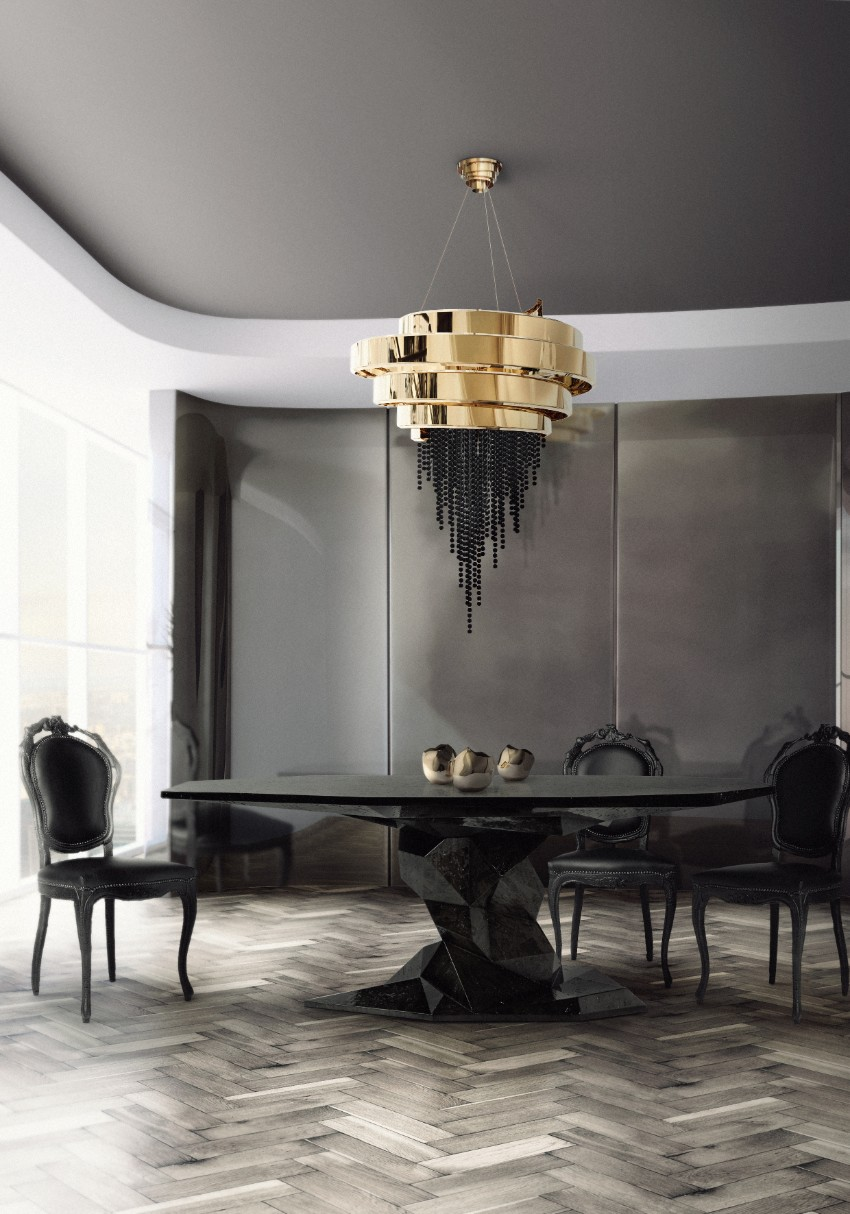 luxury dining room What a Simple Piece of Art Can Do for a Luxury Dining Room bonsai dining table