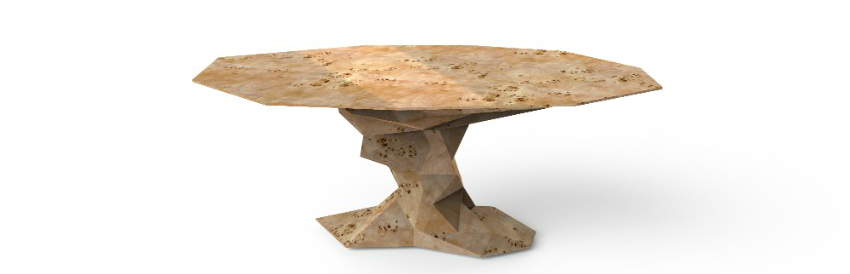 dining table Luxury Dining Rooms: Discover the Bonsai Dining Table bonsai poplar walnut bocadolobo 1