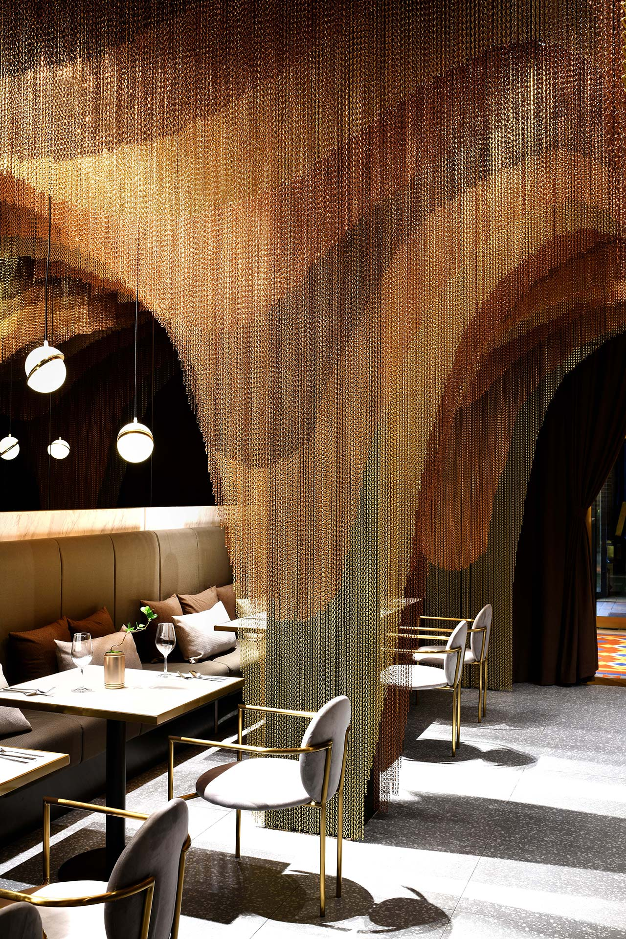 dining area Restaurant Conjures the Beauty of Chinese Countryside in a Dining Area icha chateau shanghai china spacemen 1