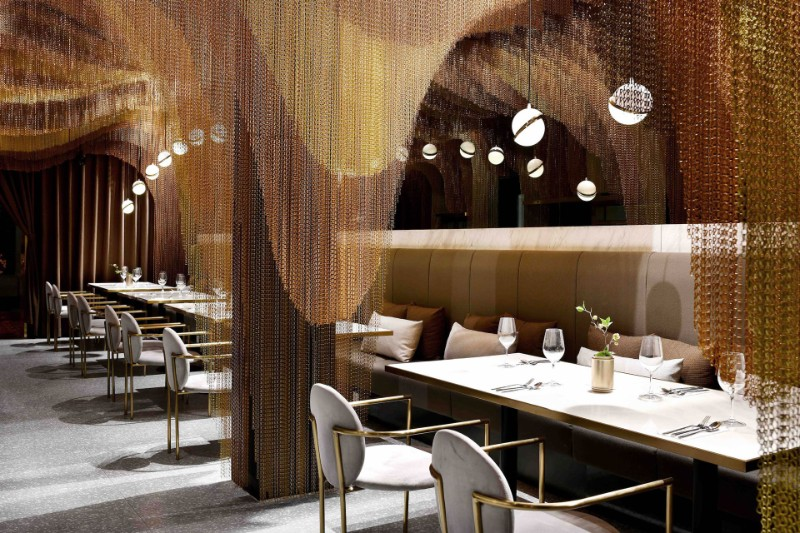 dining area Restaurant Conjures the Beauty of Chinese Countryside in a Dining Area icha chateau shanghai china spacemen 3
