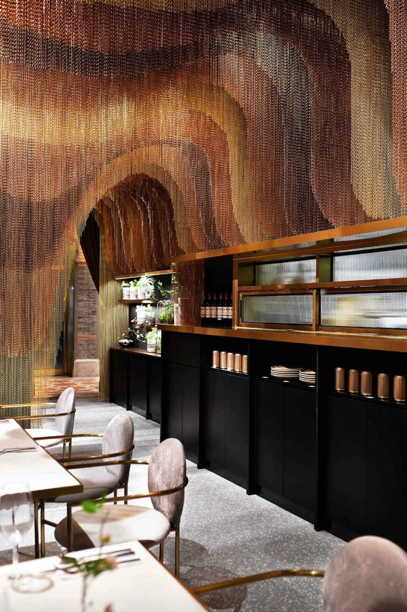 dining area Restaurant Conjures the Beauty of Chinese Countryside in a Dining Area icha chateau shanghai china spacemen 5 1