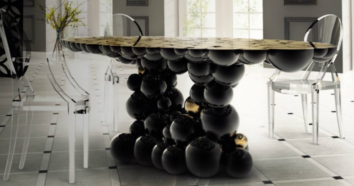 10 Luxury Black Dining Tables For A Modern Dining Room