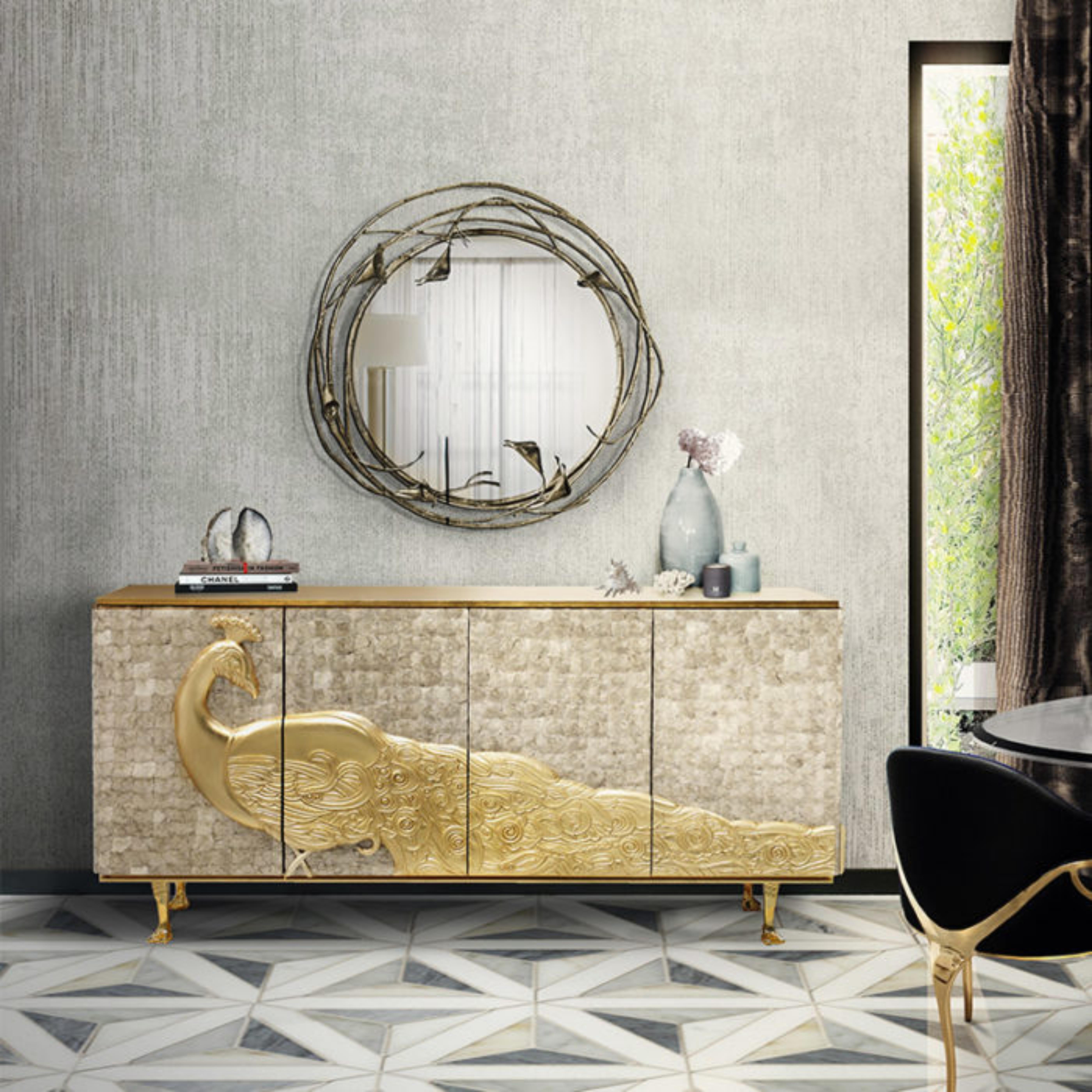dining room decor ideas 5 Astonishing Dining Room Decor Ideas Koket Camelia Cabinet 4 700x700