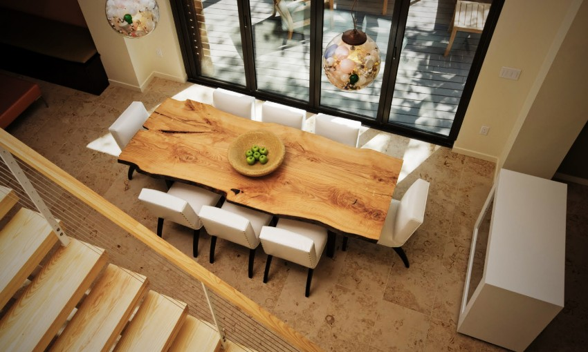 Material dining room