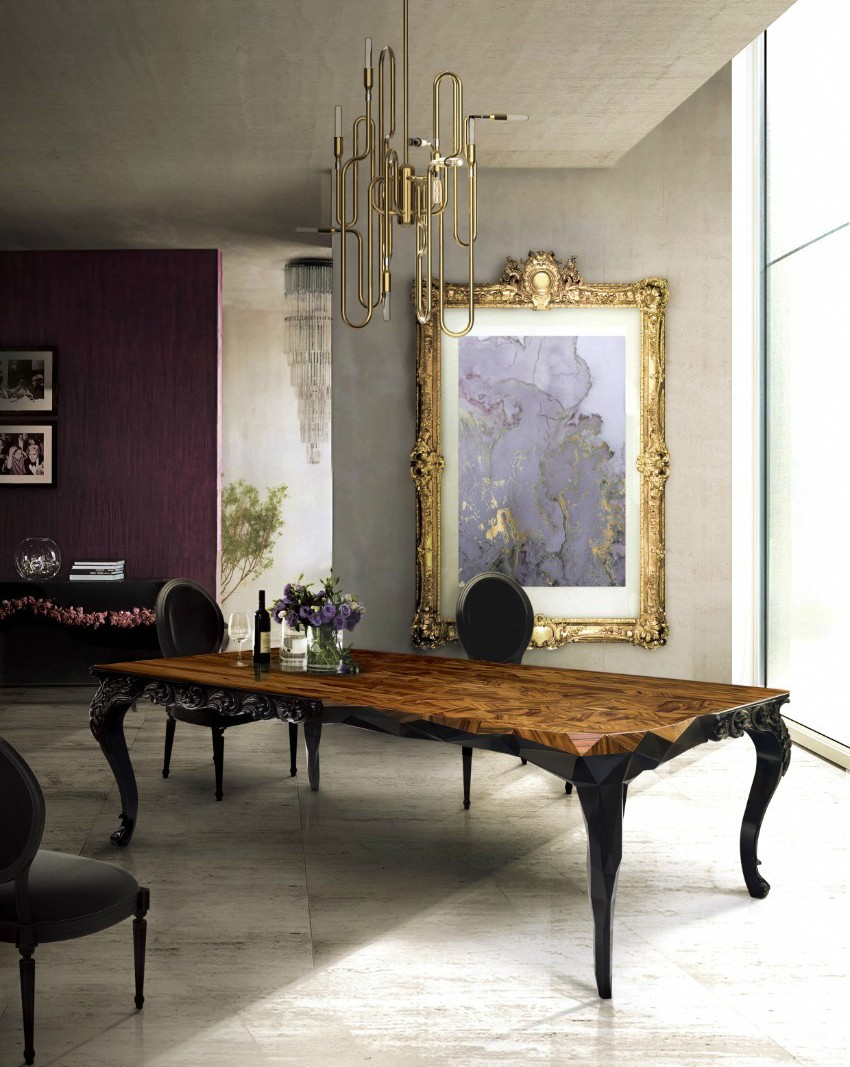 dining table, modern dining tables, dining room, interior design, decoration ideas, luxury brand, luxury furniture, contemporary design dining table How To Choose The Perfect Dining Table For Your Space royal bocadolobo 1