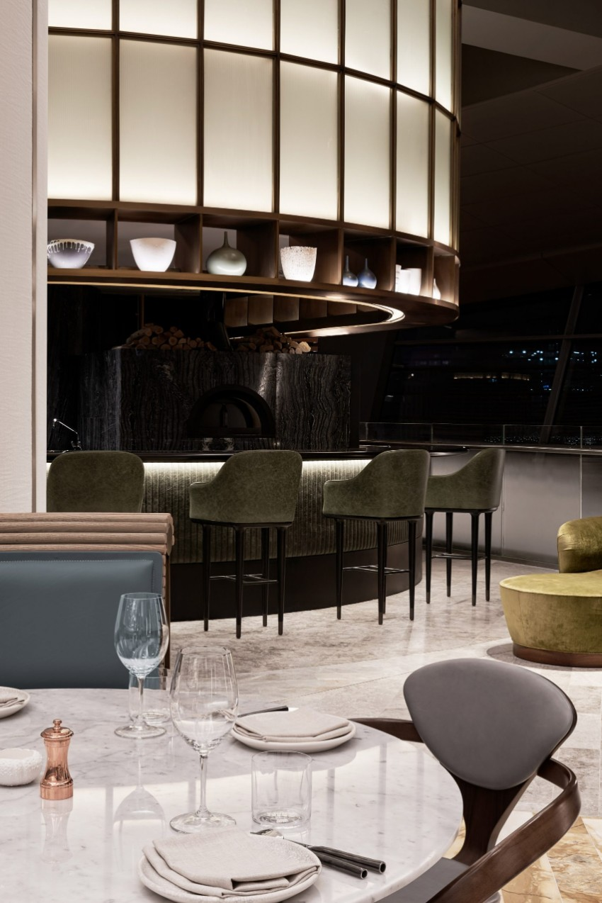 rooftop restaurant, rooftop, modern dining tables, modern design, luxury brand, luxury furniture, interior design, decoration ideas rooftop restaurant The Ocean-themed Rooftop Restaurant of Dubai Opera sean connolly restaurant dubai opera 2