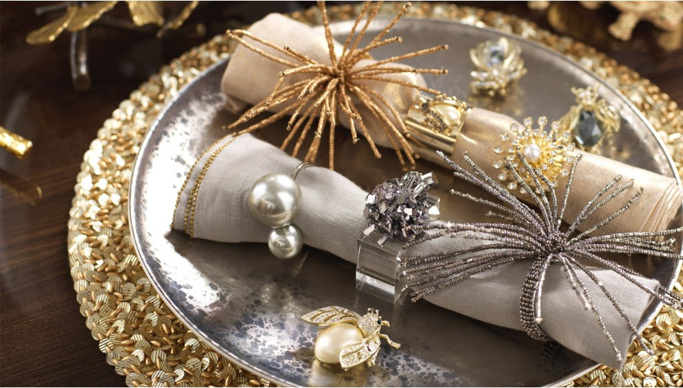 dining table Adorn Your Dining Table with These Luxury Napkin Rings Kim Seybert 2