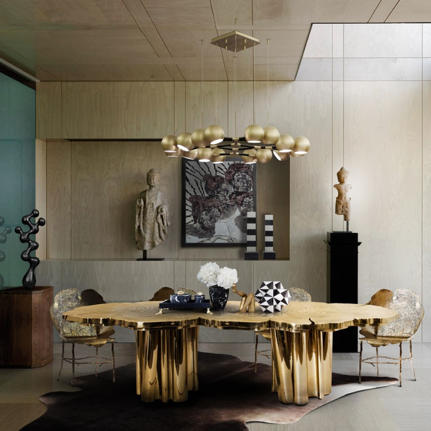 luxury dining tables, gold dining tables, luxury interiors, luxury furniture, luxury brands, exclusive design, room décor ideas, interior design, home décor, Gold Dining Tables The Best Gold Dining Tables to Your Dining Room TheBestGoldDiningTablestoYourDiningRoom