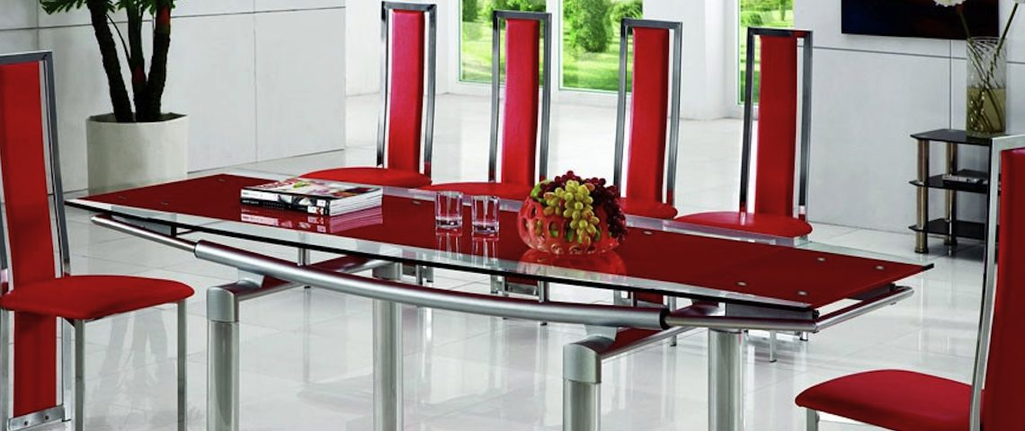 How to Create a Sensational Dining Room with Red Accents ➤ Discover the season's newest designs and inspirations. Visit us at www.moderndiningtables.net #diningtables #homedecorideas #diningroomideas @ModDiningTables