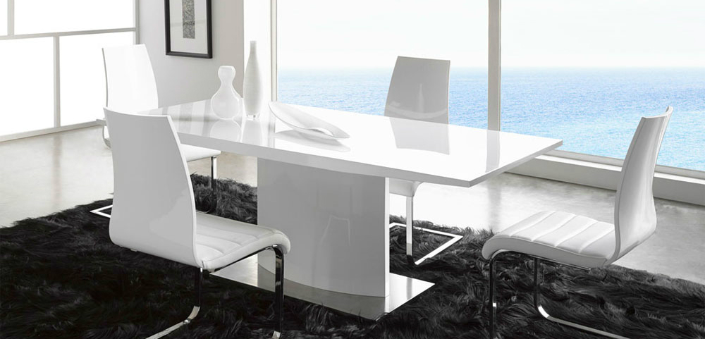 White Leather Dining Chairs The Most Sophisticated White Leather Dining Chairs 1 5