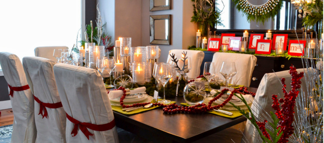 Red and Green Dining Room Holiday's Decoration Secrets: Red and Green Dining Rooms 111 4