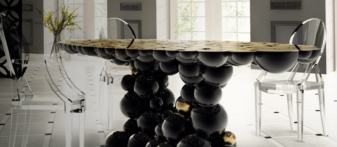 black dining tables 10 Striking Black Dining Tables for Your Modern Dining Room 111 3 1140x499
