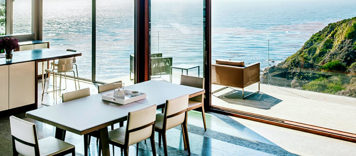 dining room 10 Dining Rooms With A Picturesque Ocean View 111 4 1140x500