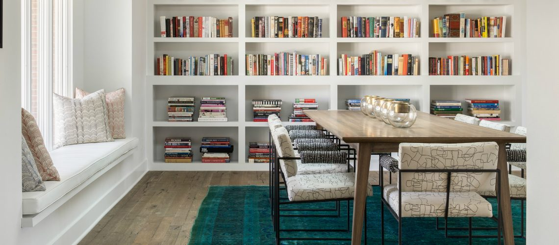 dining room Trendy Duo: Dining Room & Library Bookshelves favorite21 1140x500