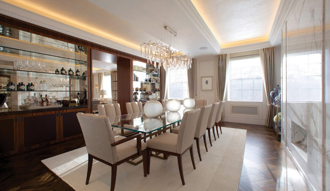 taylor howes Top 100 Interior Designers: Brilliant Dining Rooms by Taylor Howes Taylor Howes Grosvenor Square Dinning Room 1 1140x660