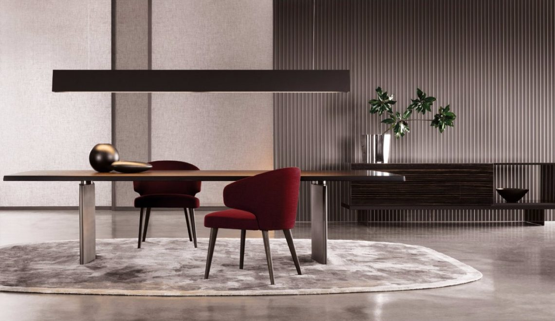 Get Inspired With These Luxury Dining Tables | www.bocadolobo.com #diningtable #moderndiningtable #diningroom #luxurybrands #luxury #thediningroom #roomdesign #minotti #busnelli #brabbu #fendi #fendicasa @moderndiningtables luxury dining tables Get Inspired With These Luxury Dining Tables 14025919947105 w4000h3200 1140x660