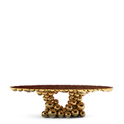 modern dining tables Amazing Cubist-Inspired Modern Dining Tables newton gold boca do lobo thumbnail